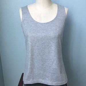 Chico's Silver Shimmer Camisole Tank